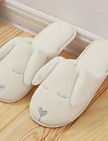 cheap -Women's Shoes Fleece Winter Fall Comfort Slippers & Flip-Flops Flat Heel Round Toe for Casual White