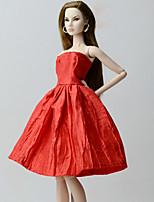Недорогие -Платья Платья Для Кукла Барби Красный Платье Для Девичий игрушки куклы