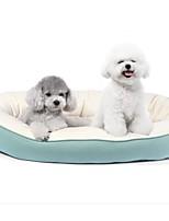 Недорогие -Собаки Коты Кровати Животные Подкладки Однотонный Теплый Серый Зеленый Синий Розовый Для домашних животных