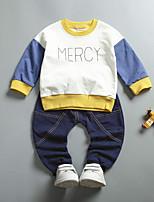 Недорогие -Детские Набор одежды Повседневные Другое Весна Длинный рукав Очаровательный Черный Желтый