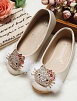 abordables -Fille Chaussures PU de microfibre synthétique Printemps Automne Confort Chaussures de Demoiselle d'Honneur Fille Ballerines Marche Strass