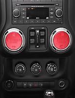 Недорогие -автомобильная звуковая ручка diy автомобильные интерьеры для джипа 2011 2012 2013 2014 2015 2016 2017 wrangler алюминиевый сплав