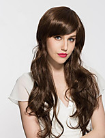 cheap -Wig Long Wavy Light Brown Heat Resistant Women Wig NO Bang Cosplay Natural Wig