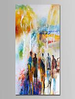 Недорогие -Ручная роспись Абстракция Вертикальная, Современный Простой Modern холст Hang-роспись маслом Украшение дома 1 панель