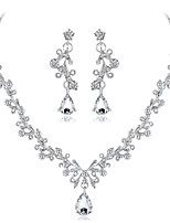 cheap -Women's Bridal Jewelry Sets Rhinestone Alloy Line Formal Fashion Sweet Wedding Party 1 Necklace Earrings Costume Jewelry