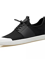 cheap -Men's Shoes PU Fabric Spring Fall Comfort Sneakers for Casual Army Green Black