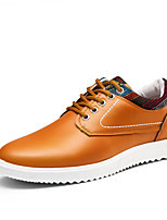 cheap -Men's Shoes Leatherette Spring Fall Comfort Oxfords for Casual Dark Blue Orange Black
