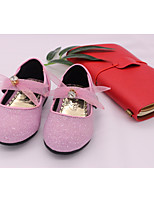 cheap -Girls' Shoes Paillette Synthetic Microfiber PU Spring Fall Comfort Flower Girl Shoes Flats for Casual Pink Black