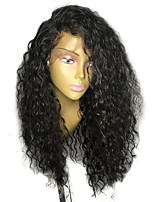 cheap -Human Hair Brazilian Lace Wig Curly With Baby Hair Glueless Lace Front Unprocessed 100% Virgin African American Wig Natural Hairline 130%