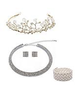 economico -Per donna Ghirlande di fiori I monili nuziali Strass Europeo Di tendenza Matrimonio Feste Perle finte Diamanti d'imitazione Lega Gioielli