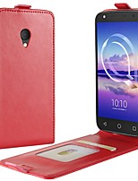cheap -Case For Alcatel alcatel U5 4G alcatel A7 Card Holder Flip Full Body Solid Color Hard PU Leather for Alcatel U5 HD Alcatel U5 4G Alcatel
