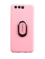 cheap -Case For with Stand Full Body Cases Solid Color Soft TPU for P10 Plus P10
