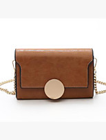 cheap -Women Bags PU Shoulder Bag Buttons for Casual All Season Brown Purple Red