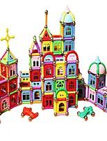 preiswerte -Magnetsticks Spielzeuge Architektur Transformierbar Eltern-Kind-Interaktion Weicher Kunststoff 418 Stücke