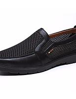 Недорогие -Муж. обувь Дышащая сетка Лето Осень Формальная обувь Удобная обувь Кеды для Повседневные Офис и карьера Черный