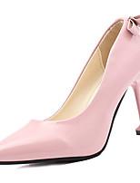 abordables -Mujer Zapatos PU Primavera Otoño Confort Tacones Tacón Stiletto para Blanco Negro Rojo Rosa Almendra