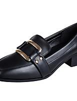 preiswerte -Damen Schuhe Künstliche Mikrofaser Polyurethan Frühling Sommer Komfort High Heels Blockabsatz Quadratischer Zeh Geschlossene Spitze