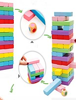 cheap -Building Blocks Stacking Games Stacking Trumbling Tower Toys Classic Theme Parent-Child Interaction Wooden Kids Pieces