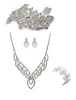 preiswerte -Damen Haarkämme Braut-Schmuck-Sets Strass Europäisch Modisch Hochzeit Party Diamantimitate Aleación Geometrische Form Linienform