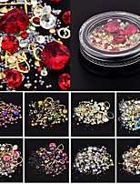 baratos -roupas de cristal strass crystal nail glitter multi-color sets