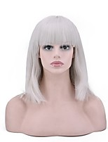 cheap -Cosplay Women Synthetic Wig Short Straight Grey Color Natural Wigs Costume Wig