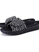 Недорогие -Муж. обувь Полиуретан Лето Удобная обувь Тапочки и Шлепанцы для Повседневные Черный Черно-белый