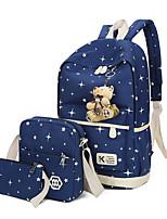 cheap -Women's Bags Polyester Bag Set 3 Pcs Purse Set Buttons for Casual All Seasons Blue Green Black Blushing Pink Purple