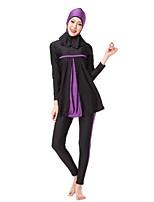 cheap -Women's Color Block Vintage Strap Tankini Swimwear,Nylon Spandex Purple Gray Orange
