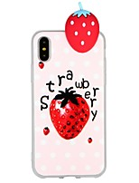 abordables -Funda Para Apple iPhone 7 iPhone 6 Diseños Manualidades Cubierta Trasera Dibujo 3D Fruta Suave TPU para iPhone X iPhone 8 Plus iPhone 8