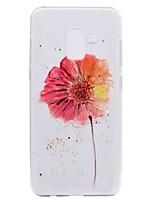 abordables -Coque Pour Samsung Galaxy A8 Plus 2018 A8 2018 Transparente Motif Coque Arrière Fleur Flexible TPU pour A3 (2017) A5 (2017) A7 (2017)