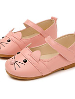 cheap -Girls' Shoes PU Spring Fall Comfort Flower Girl Shoes Flats for Casual Pink Black White