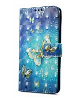 cheap -Case For Samsung Galaxy A8 Plus 2018 A8 2018 Card Holder Wallet with Stand Flip Magnetic Pattern Full Body Butterfly Hard PU Leather for