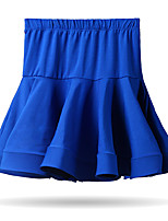 cheap -Latin Dance Bottoms Children's Training Cotton Ruching Sleeveless Dropped Skirts