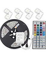 economico -zdm non impermeabile 5m 5050 300 rgb led strip light con 44key ir controller 4 pz quick splitter connettore 10mm l shape 5 conduttore