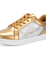 cheap -Boys' Shoes Patent Leather Spring Fall Comfort Sneakers for Casual Silver Black White Gold