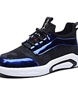 cheap -Shoes PU Fabric Patent Leather Spring Fall Light Soles Comfort Sneakers for Casual Black Gray Light Blue