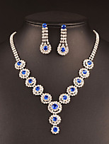 cheap -Women's Drop Earrings Choker Necklace Bridal Jewelry Sets Cubic Zirconia Rhinestone Classic Vintage Elegant Wedding Party Engagement