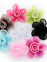 cheap -Snow Gauze Ribbon Flower Jewelry Accessories Candy Color Decorative Flowers Mixed Hair 8pcs