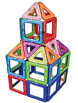 preiswerte -Magnetische Bauklötze Spielzeuge Kreisförmig Quadratisch Klassisch Transformierbar Handgefertigt Jungen Mädchen 30 Stücke