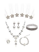 abordables -Mujer Palillos de Pelo Los sistemas nupciales de la joyería Cristal Europeo Moda Boda Fiesta Perla Artificial Diamante Sintético Legierung