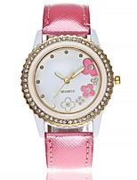 Недорогие -Жен. Наручные часы Модные часы Китайский Кварцевый Крупный циферблат Кожа Группа На каждый день минималист Черный Белый Коричневый