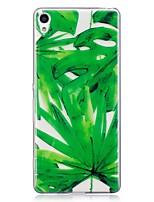 baratos -Capinha Para Sony Xperia M2 Xperia XA Estampada Capa Traseira Flor Macia TPU para Sony Xperia XA Sony Xperia M2