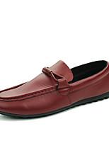 Недорогие -Муж. обувь Полиуретан Весна Осень Удобная обувь Мокасины Мокасины и Свитер для Повседневные Белый Черный Коричневый Винный