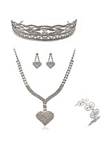 cheap -Women's Tiaras Bridal Jewelry Sets Rhinestone Fashion European Wedding Party Imitation Diamond Alloy Geometric Heart Butterfly Body