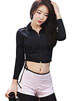 cheap -Women's Hoodie & Sweatshirt Long Sleeves Quick Dry Super Slim Breathability Top for Cheerleader Costumes Running/Jogging Nylon Slim Royal
