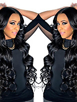 cheap -Long Body Wave Brazilian Virgin  Hair Lace Front Wigs With Baby Hair Glueless Lace Wigs For Black Women