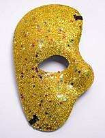 cheap -Carnival Masquerade Mask Blue Purple Red Fuschia Golden Plastics Cosplay Accessories Masquerade