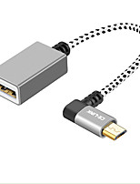 abordables -CE-Link USB 2.0 Cable adaptador, USB 2.0 to Micro USB 2.0 Cable adaptador Macho - Hembra 0,15 m (0,5 pies)