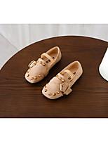 Недорогие -Девочки обувь Полиуретан Весна Осень Удобная обувь Детская праздничная обувь На плокой подошве для Повседневные Черный Розовый Хаки