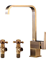 cheap -Antique Centerset Widespread Ceramic Valve Single Handle One Hole Antique Copper, Bathroom Sink Faucet